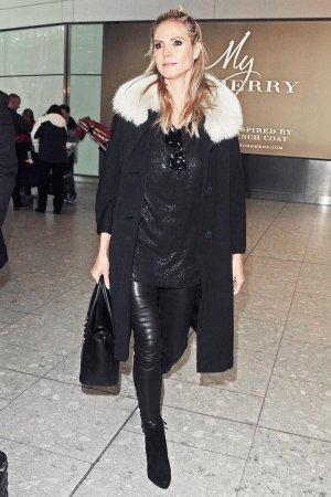 Heidi Klum at Heathrow airport