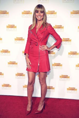 Heidi Klum attends 50th Anniversary Celebration Of Sports Illustrated Swimsuit