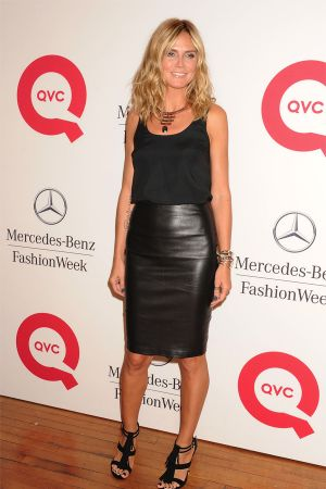 Heidi Klum attends QVC's Live from Mercedes-Benz Fashion Week Runway Show