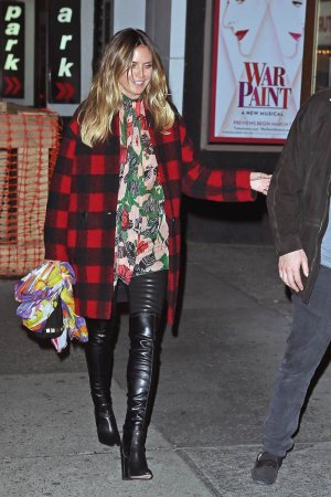 Heidi Klum leaving the musical Chicago on Broadway