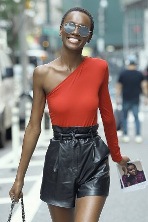 Herieth Paul attends callbacks for the Victoria's Secret Fashion Show
