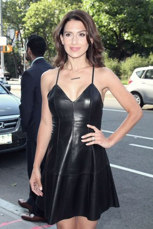 Hilaria Baldwin attends the Blind premiere