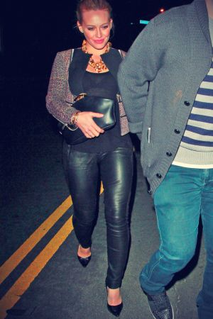Hilary Duff and Mike Comrie Having dinner in LA