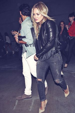 Hilary Duff at Staples Centre for a Miley Cyrus Concert