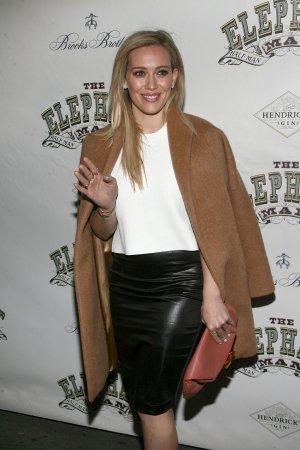 Hilary Duff attends The Elephant Man Broadway Opening Night