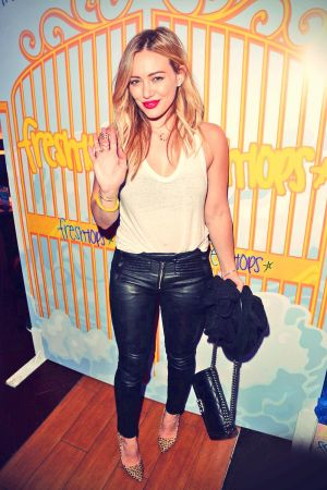Hilary Duff attends the Fresh-Tops Selena Gomez Concert Party