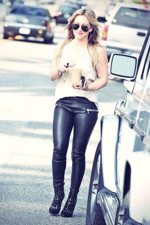 Hilary Duff getting coffee in West Hollywood