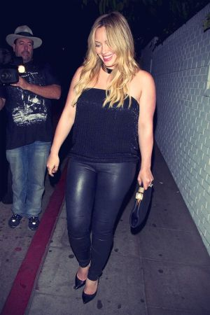 Hilary Duff leaves the Chateau Marmont