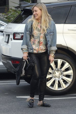 Hilary Duff leaving a Restaurant in Beverly Hills