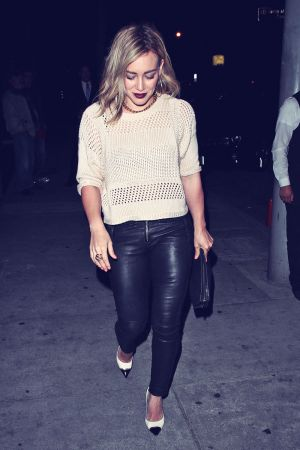 Hilary Duff leaving Craig's restaurant