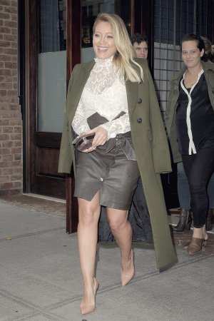 Hilary Duff leaving her Tribeca Hotel