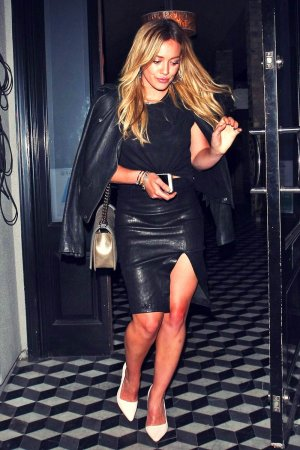 Hilary Duff night out at Craig's in West Hollywood