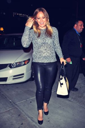 Hilary Duff on her way for dinner at Craig's
