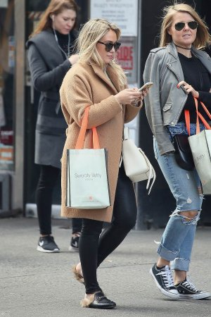 Hilary Duff shopping in NYC