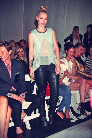 Iggy Azalea attends the Sass & Bide Fashion Show