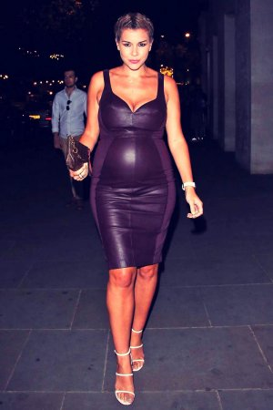 Imogen Thomas arriving at The STK Restaurant