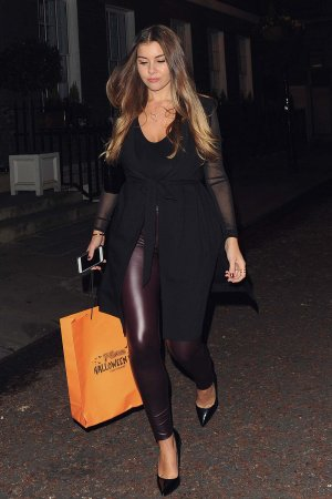 Imogen Thomas attends 7th Heavens Halloween Spa