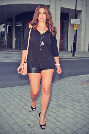 Imogen Thomas out & about in London