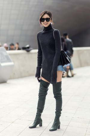 Irene Kim street style at day 5 of HERA Seoul Fashion Week