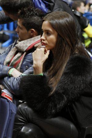 Irina Shayk at Real Madrid vs FC Barcelona Regal, ACB League Basketball