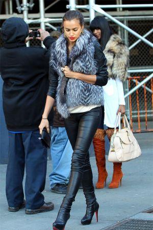 Irina Shayk heading to Madison Square Garden in NYC