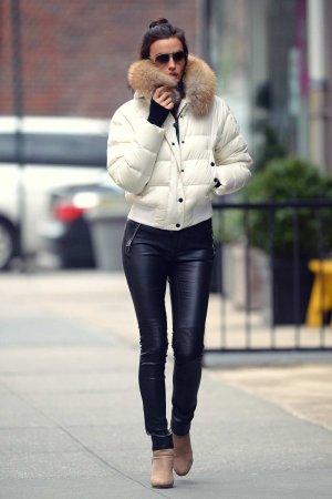 Irina Shayk out in New York