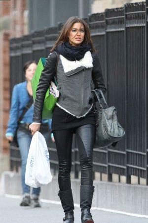 Irina Shayk out in NY