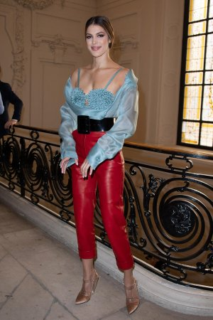 Iris Mittenaere attends Jean Paul Gaultier Haute Couture Fall/Winter
