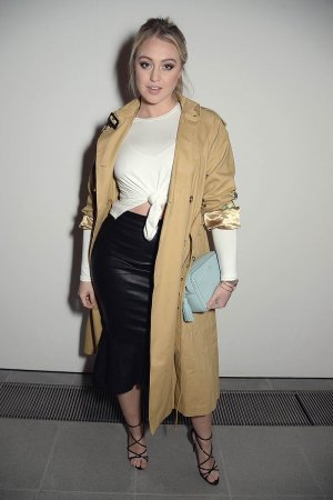 Iskra Lawrence attends London Fashion Week AW17 Fashion Film Event