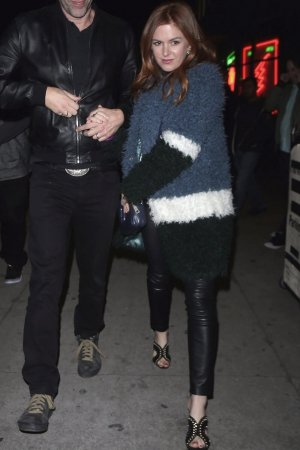 Isla Fisher is seen leaving The Largo Theatre
