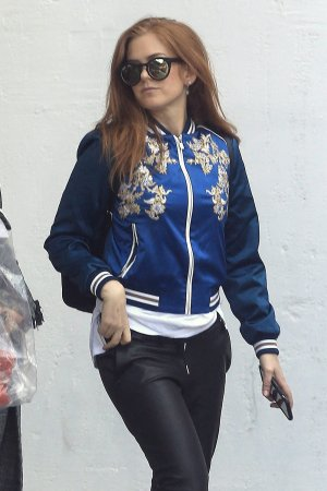 Isla Fisher out in West Hollywood