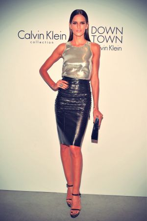 Izabel Goulart attends the Calvin Klein Collection post fashion show event