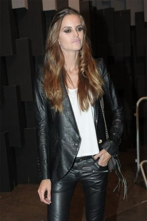 Izabel Goulart leaving after the Animale Fashion Show