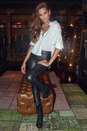 Izabel Goulart seen at a designer store in Sao Paulo