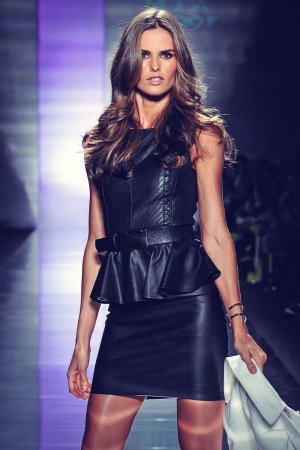 Izabel Goulart walks the runway at Studio F show during Colombiamoda