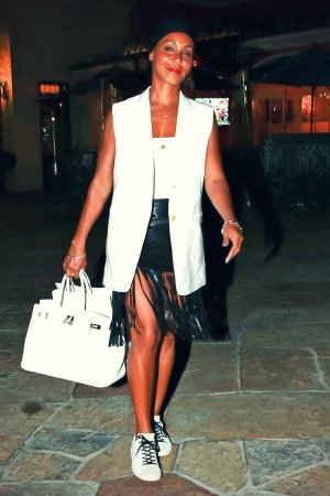 Jada Pinkett Smith at Toscanova Restaurant