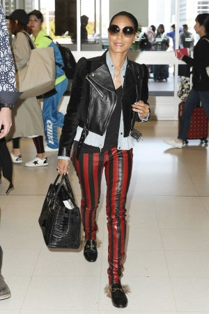 Jada Pinkett Smith seen at the Sydney airport