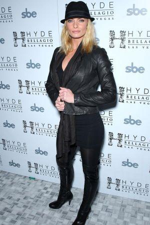 Jaime Pressly attends actor Wilmer Valderrama 32nd birthday party at Hyde Bellagio