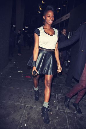 Jamelia out and about in London candids