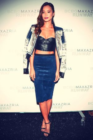 Jamie Chung attends BCBGMAXAZRIA Spring 2014 Show During MBFW