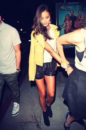 Jamie Chung leaving Bootsy Bellows