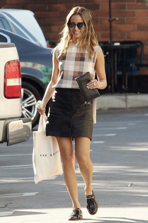 Jamie Chung shopping in West Hollywood