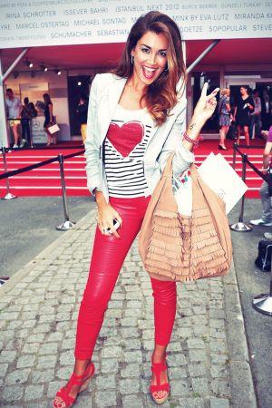 Jana Ina Zarella attends Laurel Red Carpet at Mercedes-Benz Fashion Week