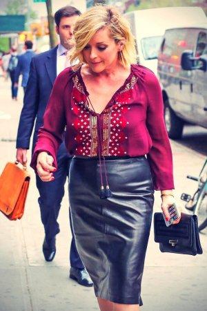 Jane Krakowski spotted outside the Bowery Hotel