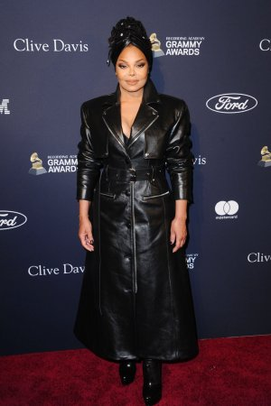 Janet Jackson attends Recording Academy and Clive Davis pre-Grammy gala
