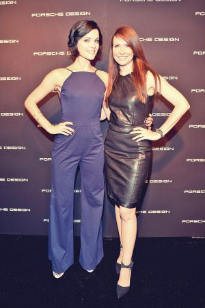Janie Bryant attend the Porsche Design and Vogue re-opening event