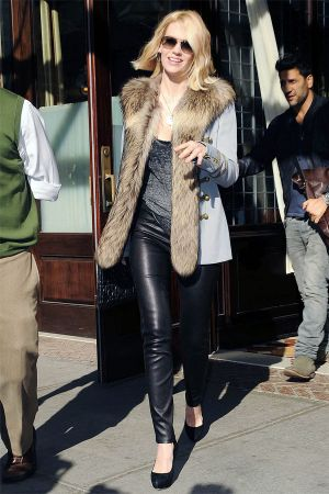 January Jones out and about in NYC