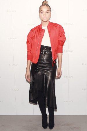 Jasmine Sanders attends Rimowa x Alexandre Arnault Pop-Up event