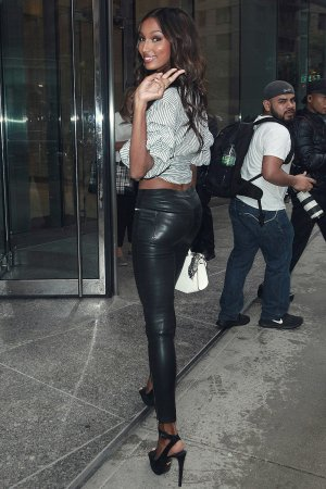 Jasmine Tookes arriving at the Victoria's Secret fitting