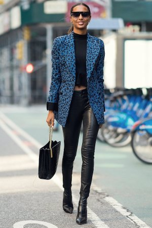 Jasmine Tookes arriving at the Victoria's Secret offices